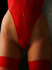 Panties lace sexy red